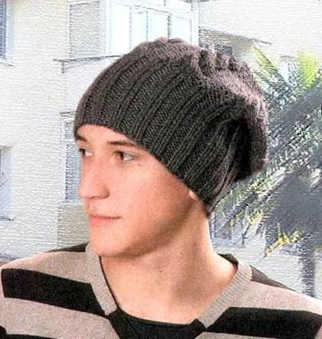 Вязание шапка с большими косами